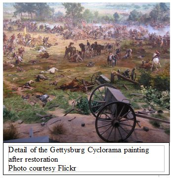 Detail of the Gettysburg Cyclorama painting after restoration - Photo courtesy Flickr