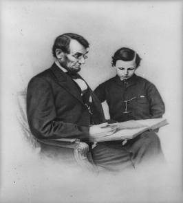 Abraham Lincoln and his son Tad